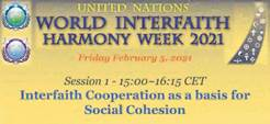 20210205 - Session 1 - Interfaith Cooperation as a basis for Social Cohesion